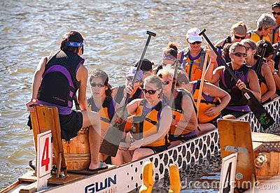 Dragon Boat Racers National Harbor Washington DC Editorial Stock Image