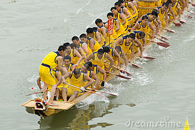 Dragon boat races are held in china Editorial Image