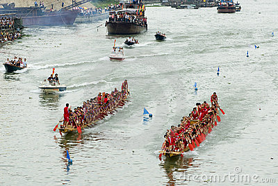 Dragon boat races are held in china Editorial Photo