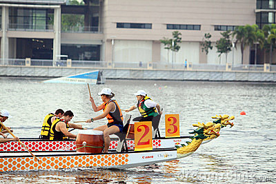 Dragon Boat Racing Editorial Photo