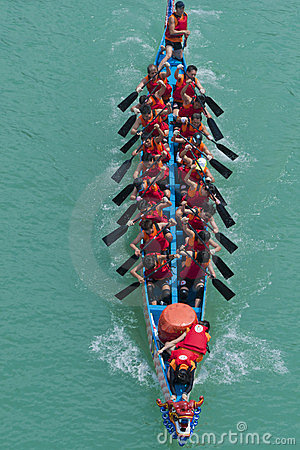 Free Dragon Boat Racing Stock Photography - 24066172