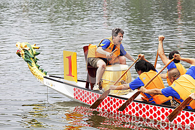 Dragon-boat racing Editorial Photo