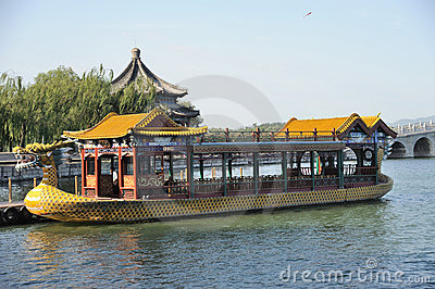 Dragon boat in summer palace Editorial Photography