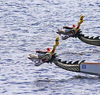 Free Dragon Boats Focus On Background Boat Royalty Free Stock Image - 15805046