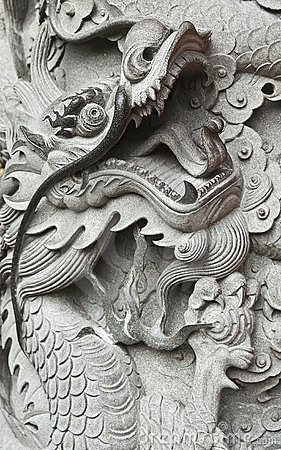 Dragon Carving in Hong Kong