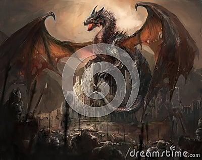 Dragon castle Stock Photo