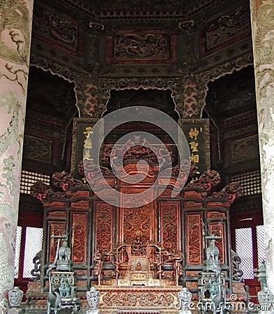 Dragon Chair in Dazheng Hall
