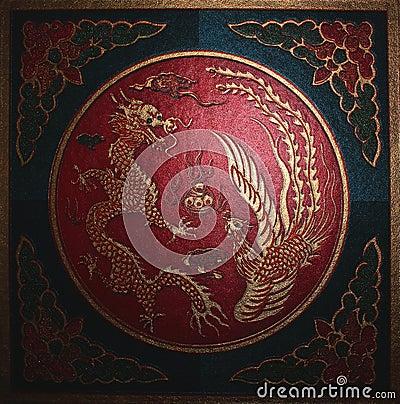 Dragon. Chinese symbols