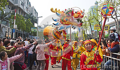 Dragon dance Editorial Photography