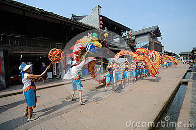 Dragon dances Editorial Stock Image
