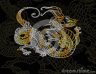 Dragon on dark background