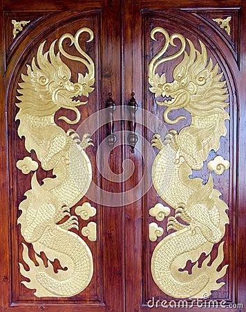 Free Dragon Door Stock Image - 27513621