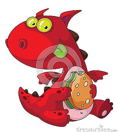Dragon eating