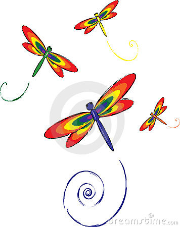 Free Dragon Flies Royalty Free Stock Photo - 1207835