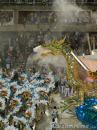 Dragon float, Rio Carnival. Editorial Stock Image