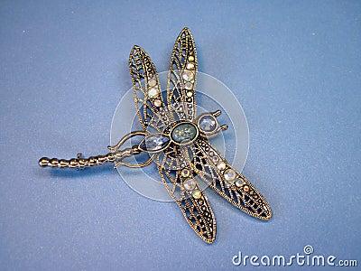 Dragon- fly brooch