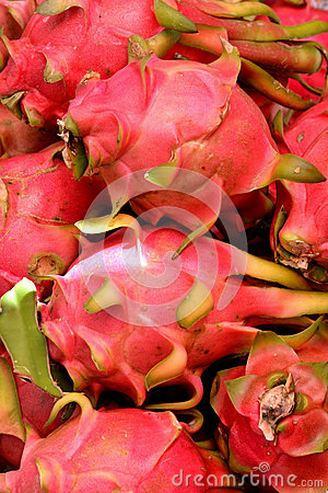 Dragon fruit in red