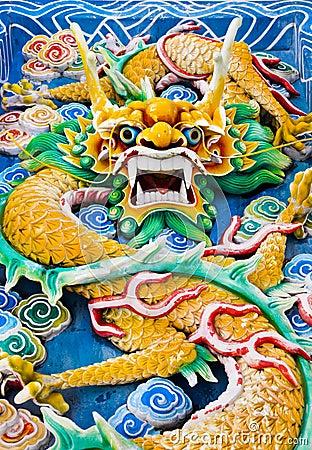 Free Dragon In Temple At Kuala Lumpur (Malaysia) Stock Images - 20055824