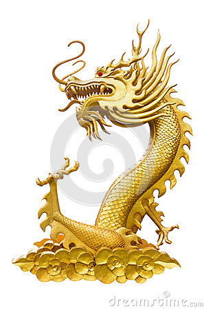 Free Dragon Isolated On White, With Clipping Path Royalty Free Stock Photo - 67665685