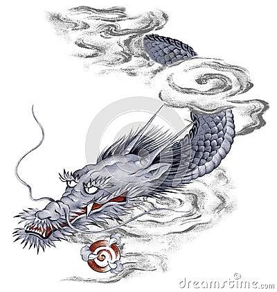 Dragon japonais illustration stock image 42264956 - Dragon japonais ...