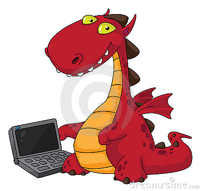 Dragon and laptop