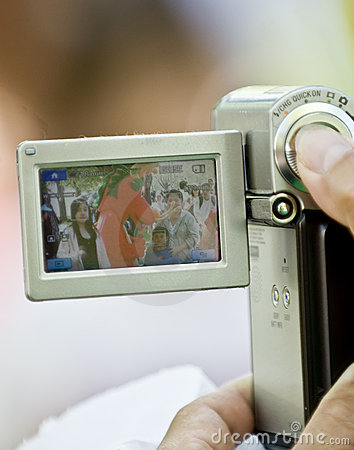 A Dragon Mascot seen through a digital camera Editorial Stock Photo