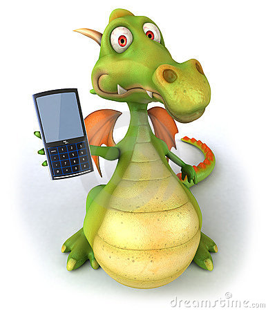 Dragon and mobile phone