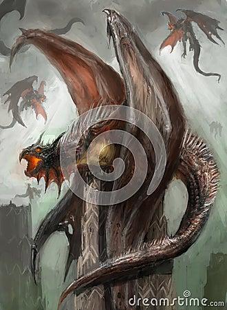 Dragon nest Stock Photo