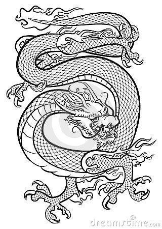 dragon noir et blanc photos libres de droits image 16445218. Black Bedroom Furniture Sets. Home Design Ideas
