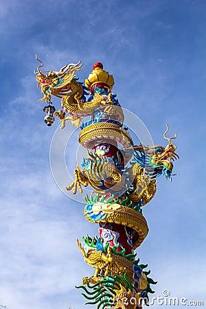 Free Dragon On Pole Stock Photos - 25416613