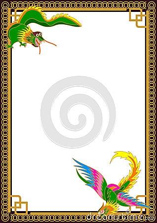 Dragon Phoenix Border