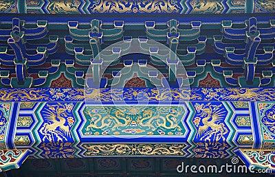 Dragon Phoenix Details Temple Beijing