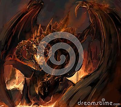 Free Dragon Rage Stock Photography - 23330772
