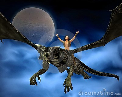 Dragon Rider with background - 2