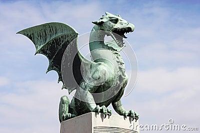 Dragon s bridge in Ljubljana