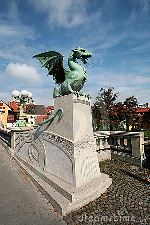 Dragon s bridge in Ljubljana