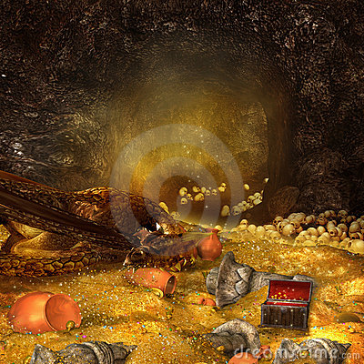 Free Dragon S Cave Stock Image - 20599661
