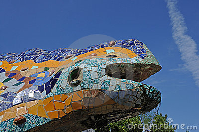Dragon Sculpture in Barcelona