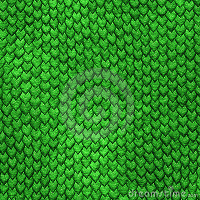 Dragon skin green scales background