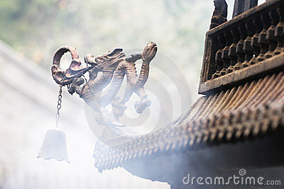 Dragon Statue On Incense Burner Royalty Free Stock Photos - Image: 24130258