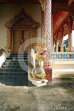 Dragon temple door