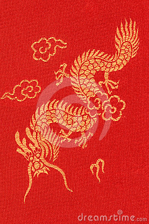 Free Dragon Textile Stock Image - 24511321