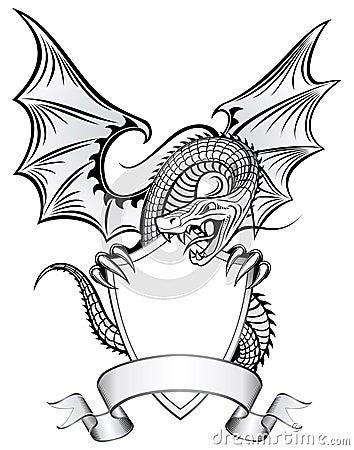 Free Dragon Upon The Shield Royalty Free Stock Photos - 7730968