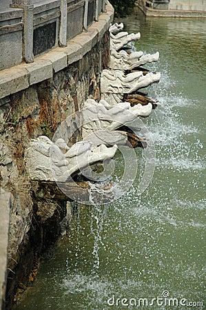 Dragon Water-Spigots at Gardens of the Sun-Moon Goddess