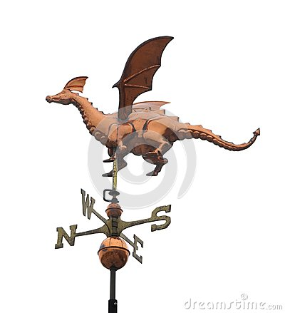 Dragon weather vane isolated