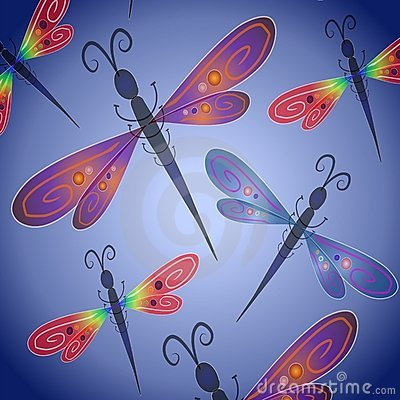 Free Dragonfly Background In Blue Stock Photos - 2807033