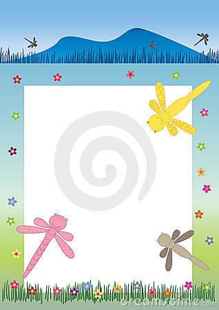 Dragonfly Banner And Frame_eps