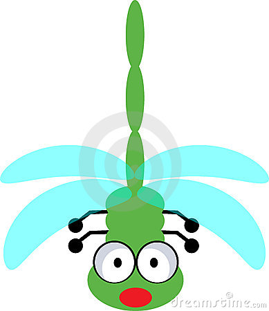 cute dragonfly clipart. Illustration of cute dragonfly