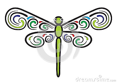 Dragonfly which have beautiful wings