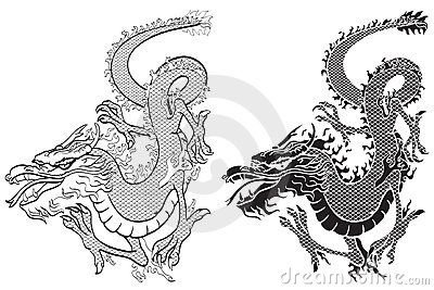 Dragons black & white